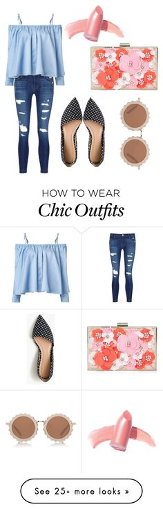 """Fabulously Chic + Cute."" by paayy on Polyvore featuring Elizabeth Arden, J Brand, J.Crew, Sandy Liang, New Look and House of Holland"