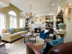 """""""Never put all your furniture against the walls,"""" says Karen Rauch Carter, feng shui consultant and author of Move Your Stuff, Change Your Life. """"Furniture should be arranged to support communication, so forget where the walls are. Put at least the front legs of all furniture on the rug — not just around it — and people will sit there and talk."""""""