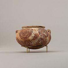 Decorated ware jar illustrating spirals Period: Predynastic Period Date: ca. 3850–2960 B.C. Geography: Country of Origin Egypt Medium: Potte...