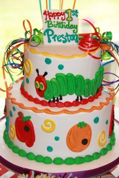 """Photo 9 of 26: A Very Hungry Caterpillar First Birthday / Birthday """"Preston's first birthday""""   Catch My Party"""