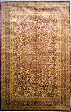 Qum Mohammadi Silk Signature Silk Persian Rug - Item# 2400 Size: 300 x 193 (cm) 10 x 3 (ft) Persian Carpet, Persian Rug, Classic Rugs, Silk Material, Cheap Carpet, Contemporary Rugs, Rugs On Carpet, Amazing Art, Hand Weaving