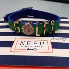 This Keep Collective bracelet is perfect for the jewelry loving golfer. Fore! #keepcollective #charmsbyjill #golf