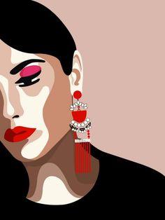 Always inspired by women 🖤 Art And Illustration, Illustration Design Graphique, Fashion Illustration Sketches, Inspiration Art, Art Inspo, L'art Du Portrait, Portraits, Posca Art, Female Art