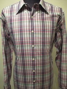 BROOKS BROTHERS 346 SHIRT Long Sleeve Button Up Men Size XL Plaid Dress Slim Fit #BrooksBrothers #ButtonFront