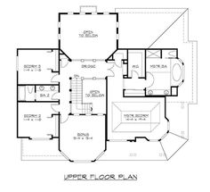 115-1000:  House Plan CD-M3130A3S-0 Second Floor Plan