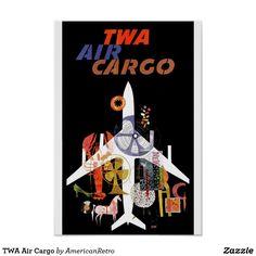 TWA Air Cargo Poster