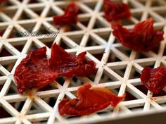 Dried tomatoes. I sure hope I make enough someday to do this!
