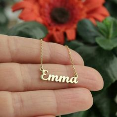 24k Gold Plated Name necklace Get it now personalize with your name 👉 20% Off right now 👈 jobremoon.com