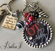 Physical therapist gift, keychain, personalized keychain, PT ...