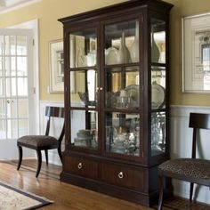 modern glamour brighton china cabinet ethan allen furniture interior