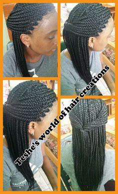 Neat box braids