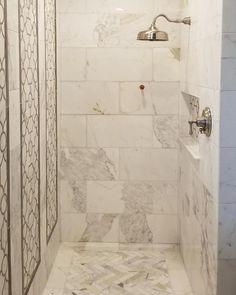 Calcutta Gold Marble Bathroom Unique Calacatta Gold Master Bathroom Remodel Featuring the Calcutta Gold Marble, Carrara Marble Bathroom, Backsplash Arabesque, Calacatta Gold, Marble Floor, Kitchen Backsplash, Herringbone Backsplash, Shower Floor Tile, Bathroom Floor Tiles