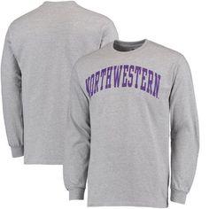 Northwestern Wildcats Fanatics Branded Basic Arch Long Sleeve T-Shirt - Gray - $17.99