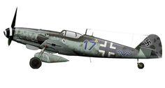 Messerschmitt Bf 109G-14AS/R3 Erla 16./JG5 Blue (17+~) Heinz Schuler WNr 785658 Norway March 1945.