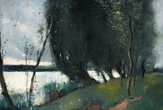 'Willows by the lake', 1895 - Lesser Ury (1861–1931)