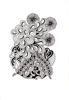 Renates Zentangle 15.04.2016 Zentangles, Pyrography, Printing, Floral, Flowers, Jewelry, Art, Mandalas, Art Background