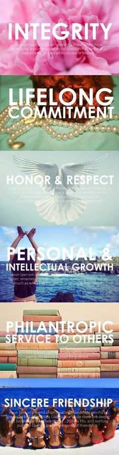Pi Phi values! #piphi #pibetaphi Love this. These values changed my life and are forever a part of me.