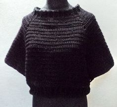 Lace, crochet and more!: T O U R V E L - Batwing Sweather - English and Spanish Versions - free pdf at google docs