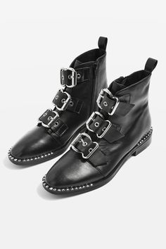 Invest in a pair of buckle boots and they'll be your festival besties all summer long. We adore these ALFIE Buckle Boots from Topshop *majorhearteyes* Buckle Ankle Boots, Ankle Booties, Sock Shoes, Shoe Boots, Women's Boots, Rock And Roll, Old West Boots, Baskets, Mode Boho