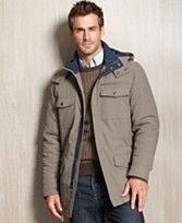 Perry Ellis Big and Tall Jacket, Microfiber Hooded Jacket