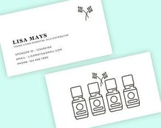 Essential Oil Business Card Essential Oils Business Young