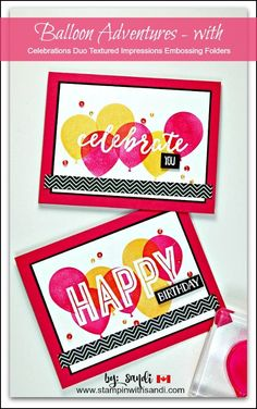 Balloon ADventures with Celebrations Folders by Sandi at stampinwithsandi.com