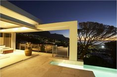 luxus villa cape town terrasse