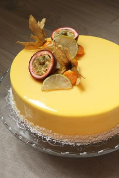 Passionately exotic (dessert vanilla passion fruit, pineapple brunoise and mango jelly) - Trendswoman Cheesecake Mousse Recipe, Chocolate Mousse Cheesecake, Mousse Cake, Cheesecake Recipes, Entremet Recipe, Fancy Desserts, Fancy Cakes, Just Desserts, Deserts