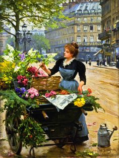 Parisian Flower Seller Louis Marie de Schryver