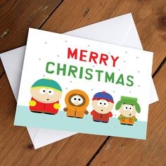A personal favorite from my Etsy shop https://www.etsy.com/ca/listing/260715698/southpark-xmas-card