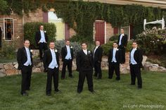 The groom and his groomsmen at Stonebrook Manor.
