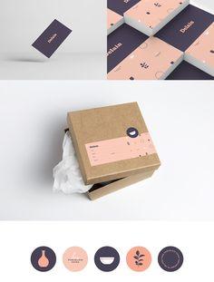 Stationery branding - Branding and Packaging Delain Porcelain by Nick Edlin – Stationery branding Ecommerce Packaging, Branding And Packaging, Simple Packaging, Self Branding, Packaging Stickers, Box Packaging, Corporate Branding, Logo Branding, Personal Branding
