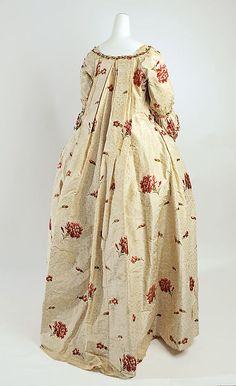 Dress (image 3) | British | 1750-75 | silk | Metropolitan Museum of Art | Accession Number: 1980.600a, b