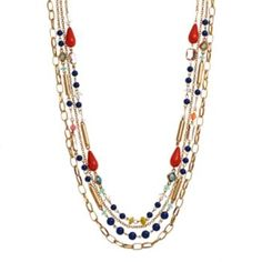 Apt. 9 Bead Long Multistrand Necklace