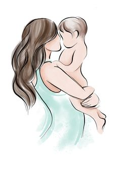 Beautiful mother and baby illustration for the Pure Bliss Co packaging, by Cuckoo for Colour. Baby Sketch, Pregnant And Breastfeeding, Baby Illustration, Bliss Balls, New Mums, Mother And Baby, Our Baby, Superfood, Lashes