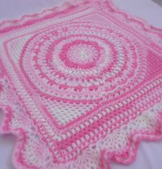 Baby delight crochet blanket, pattern came from Mary Maxim.