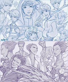 Rise of the Guardians: Jack and Pitch sketches by Kaira-Hiwatari.deviantart.com