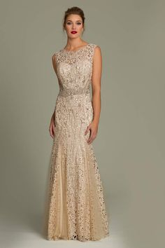 Jovani lace mermaid gown