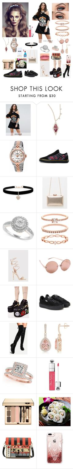 """""""Young fashion # 251"""" by demacracy ❤ liked on Polyvore featuring Sacred Hawk, Meira T, Rolex, Vans, Betsey Johnson, Effy Jewelry, Accessorize, Linda Farrow, Y.R.U. and Puma"""