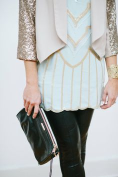 Sequin jacket...sparkle for the holidays! via Lou What Wear | Style Spotting in Louisville