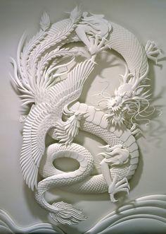 Esculturas de papel de Calvin Nicholls