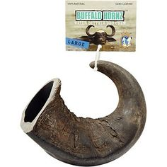 QT Dog Buffalo Hornz Water Buffalo Horn Dog Treat Large