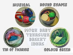 baby treasure box theme ideas. Heuristic and Sensory play, encourage curiosity and discovery. From baby psychology resource baby-brain.co.uk