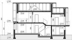 Projekt Dom przy Cyprysowej 14 D 144,12 m2 - koszt budowy - EXTRADOM Floor Plans, House Styles, Model, Log Homes, Projects, Scale Model, Pattern, Models