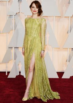 Oscars 2015 Red Carpet Dresses: Emma Stone in Elie Saab Haute Couture Elie Saab Couture, Glamour Hollywoodien, Hollywood Glamour, Ellie Saab, Celebrity Red Carpet, Celebrity Style, Celebrity Babies, Emma Stone Oscars, Robes Elie Saab