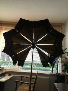 Een kapotte paraplu