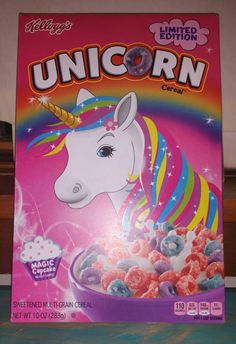 Unicorn cereal! How cool is that?!