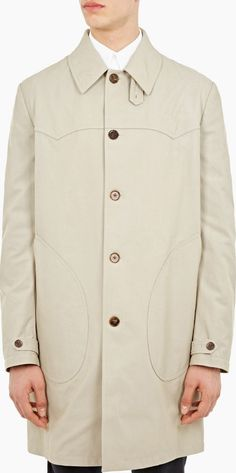 Maison Margiela Natural Classic Cotton Trench Coat The Maison Margiela Classic Cotton Trench Coat for SS16, seen here in natural. - - Crafted in Italy from premium cotton, this trench coat from Maison Margiela is a classic style featuring a single-bre http://www.comparestoreprices.co.uk/january-2017-6/maison-margiela-natural-classic-cotton-trench-coat.asp