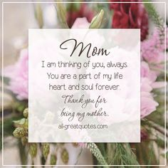 Mom, Always in my heart...so close, yet so far away in Heaven. ♥