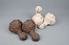 set 4 Antique Victorian cast Iron Ball & Claw Foot bathroom bath Tub Feet Legs